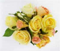Deluxe Rose Bouquet Peach Yellow