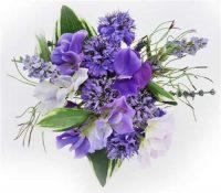Cornflower/lLavender/Sweet Pea Posy