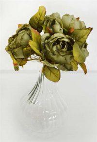 Dry Look Rose Bouquet Slate Blue