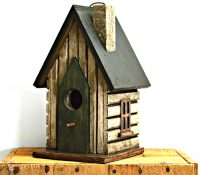 Bird House Green Barn Door 26cm
