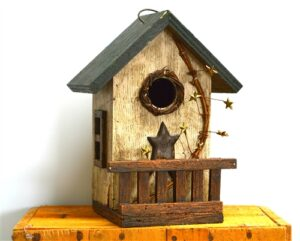 Bird House w/ Starry Verandah 25cm