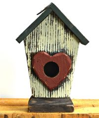 Bird House w/ heart 19cm