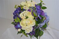 Hydrangea and Ivory Rose Bouquet