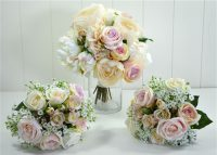 Peony Rose and Alstromeria Silk Bouquet