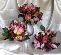 Dusty Vintage Magnolia & Cymbidium Rose Posy.