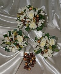Ivory Magnolia,Rose Hip and Stephanotis Bouquet