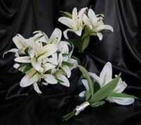 Ivory Oriental Lily Real Touch Brides Bouquet