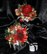 Native Silk Red Waratah Brides Bouquet