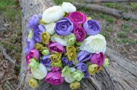 Ranunculus Lilac & Lime Wedding Posy