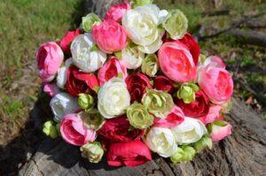 Ranunculus Ruby & Green Wedding Posy