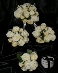 Unbelievable Classic White Rose Wedding Posy