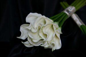 White Calla Lily Sheaf Bouquet