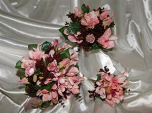 Wine Magnolia,Kangaroo Paw, Eucalyptus Silk Wedding Bouquet