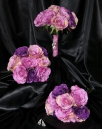 Purple Mauve, Magenta Long Stemmed  Rose Bouquet