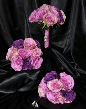 Purple Mauve, Magenta Long Stemmed  Rose Bouquet