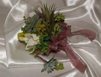 Organic Orchid & Succulent Brides Bouquet