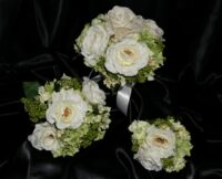 White Millenium Roses & Green Berries