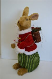 Christmas Rabbit with Basket
