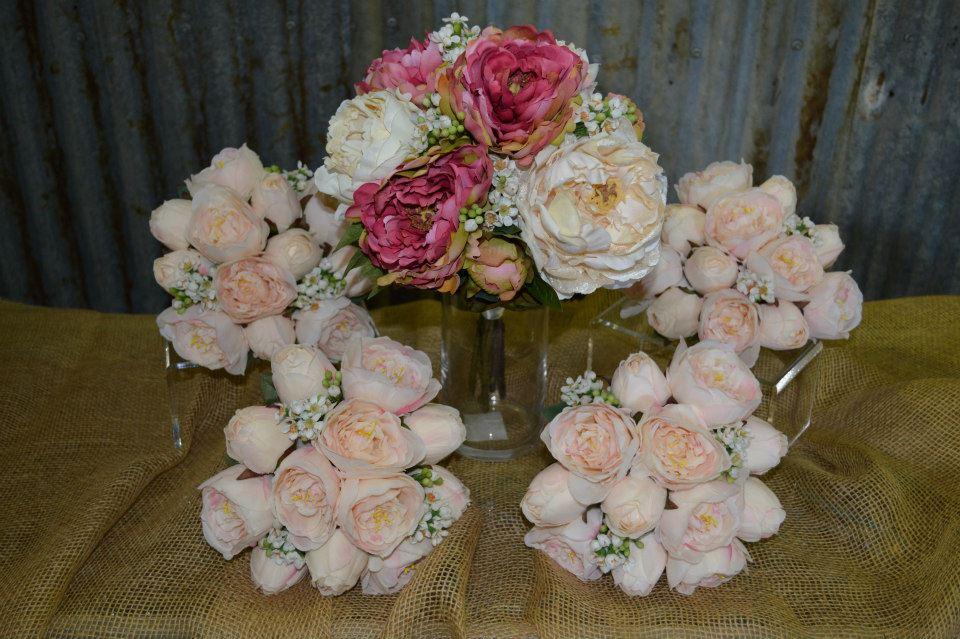 Silk Wedding Peonies Bouquet