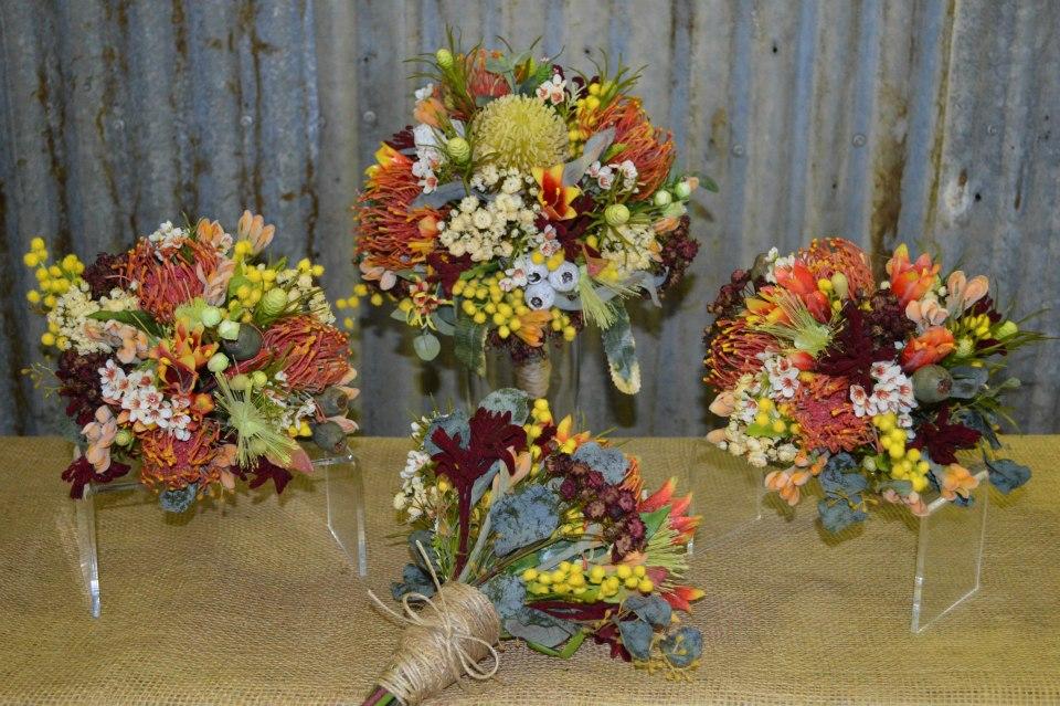 Silk Wedding Native Flower Bouquet