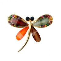 Brooch, Multi-Colour Dragonfly
