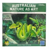 Blue Opal - Nature as Art - Green Tree Python
